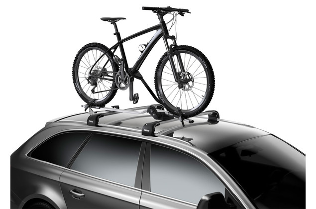 thule proride 598 roof mounted bike rack twin pack carbox. Black Bedroom Furniture Sets. Home Design Ideas