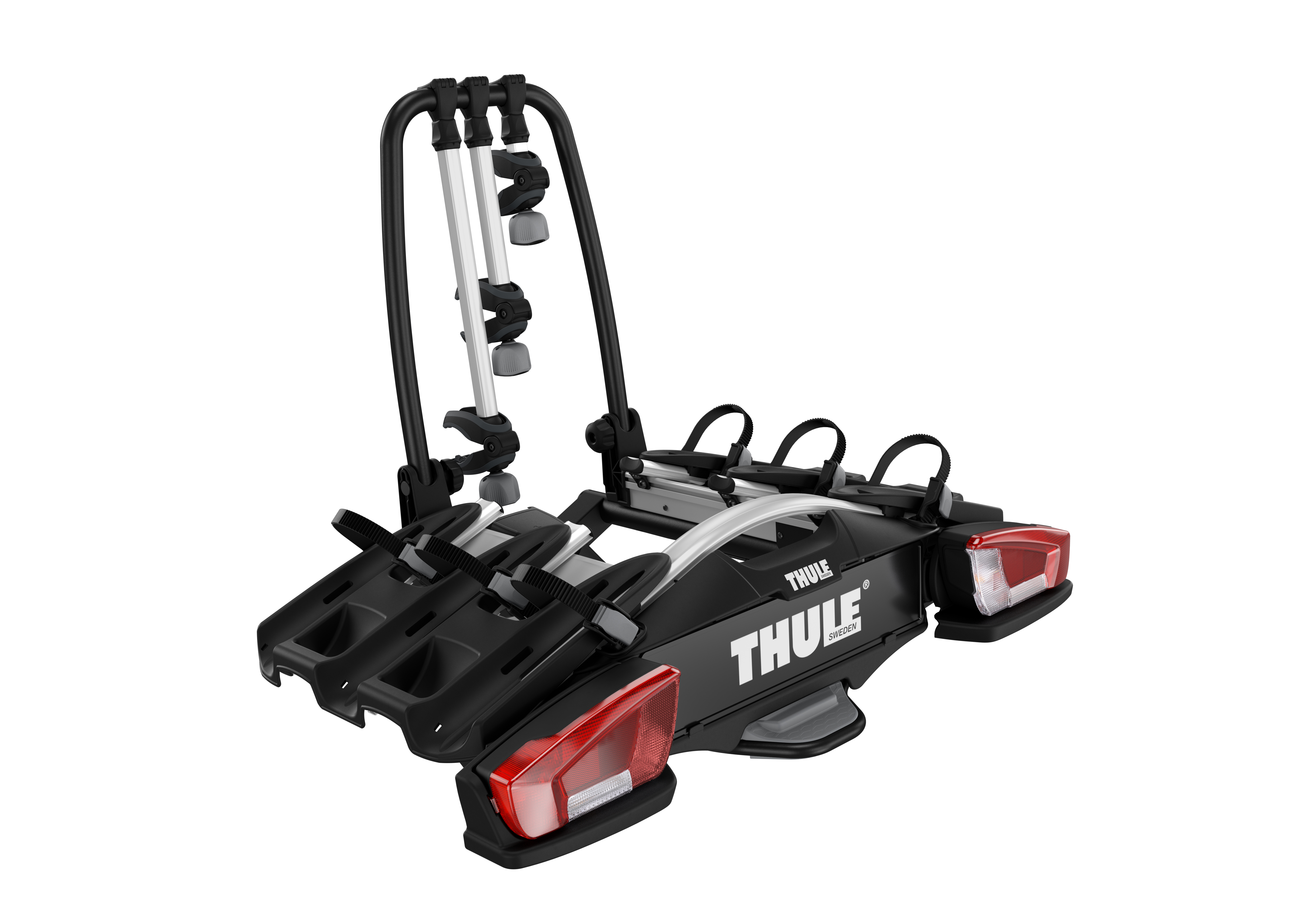 thule velocompact 927 towbar bike carrier for 3 4 bikes. Black Bedroom Furniture Sets. Home Design Ideas